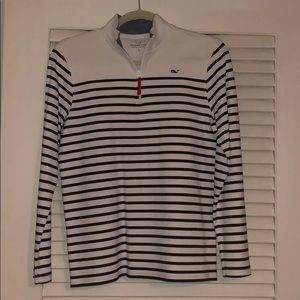 Blue and White Stripped Pullover